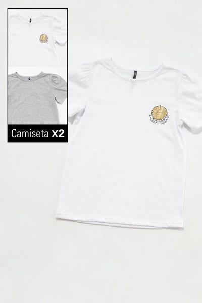 DUO CAMISETA  Multicolor