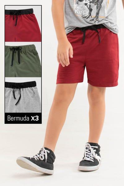 TRIO BERMUDA  Multicolor