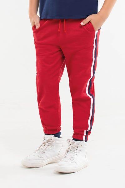 JOGGER BOTA TUBO Rojo