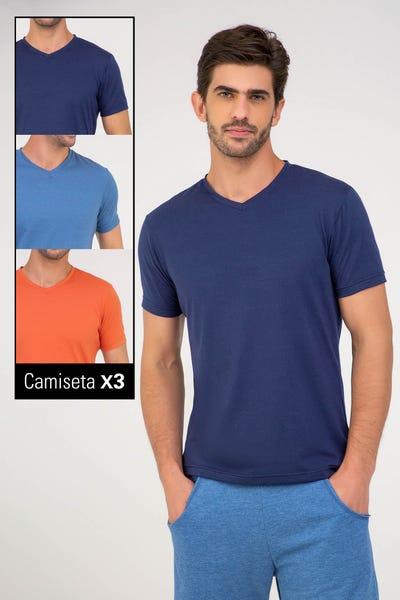 TRIO CAMISETA MANGA CORTA Multicolor