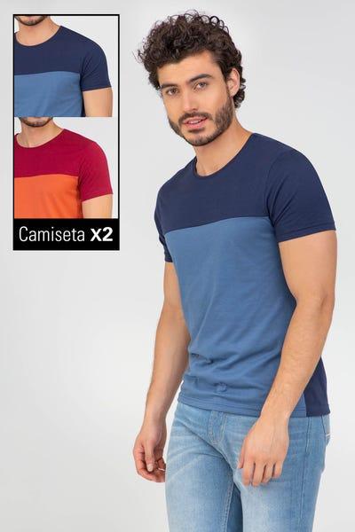 DUO CAMISETA MANGA CORTA Rojo